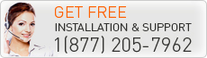 Get FREE installation and supprot 1(877)205-7962
