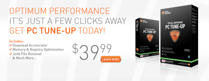Optimum Performance, It's Just a Few Clicks Away. Get PC Tune-Up today! $39.99