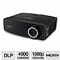 Acer P7500 1080p Home Theater DLP Projector - 4000 ANSI Lumens, 1920 x 1080, 16:9, 40000:1, HDMI, DVI, VGA, USB, 16.5 lbs.  (Refurbished)