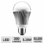 Aluratek ALB5W 5 Watt A19 LED Bulb - 300 Lumens, 5.25 Watts, 50,000 Hours, Warm White