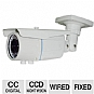 "Aposonic A-CDBIV06 Outdoor Security Camera - 1/3"" Sony CCD Sensor, Varifocal Lens, 550 TVL, 80 Feet Night Vision, IP66 Waterproof, 2.8~12mm Varifocal Lens, 36 IR LEDs"