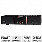 AudioSource AMP102 2-Channel Stereo 50Watt Power Amp (Refurbished)