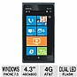 "AT&T 65367 Nokia Lumia Smartphone - 4G, Windows Phone 7.5, 4.3"" Touchscreen, Front/Rear Cameras, Dual LED Flash, USB, Black (AT&T LOCKED) - Refurbished - 65367"