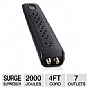 Belkin BV107030-04-BLK Advanced AV Surge Protector - 7 Outlets, 2,000 Joules, 4ft Cord, Cable and Satellite Coaxial Protection