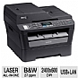 More Info on Brother MFC7460DN All-in-One Laser Black and White Printer - 27ppm, Up to 2400 x 600 DPI, Duplex, ADF, LCD Display, Network, USB, Copy, Scan, Fax