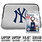 "Centon CTS2GBKIT.NYY New York Yankees Laptop Accessory - NY Yankee 15.6"" Laptop Sleeve, NY Yankee 2GB USB Keychain"