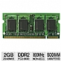 Centon 2GBS/D2-800 Laptop Memory Module - 2GB, PC2-6400, DDR2-800MHz, 200-pin SODIMM, CL5, 1.8V, Non ECC, Unbuffered, Apple Compatible