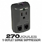 More Info on CTG / 1-Outlet / 270 Joules / Surge Suppressor for Notebook