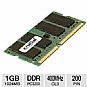 Crucial 1024MB PC3200 DDR 400MHz SODIMM Laptop Memory