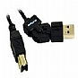 More Info on C2G FlexUSB - USB cable - 4 pin USB Type A (M) - 4 pin USB Type B (M) - 6 ft ( USB / Hi-Speed USB ) - black