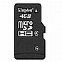 More Info on Kingston - Flash memory card - 4 GB - Class 4 - microSDHC