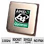 AMD Opteron 848 Processor OSA848FAA5BM - 2.20GHz, 1MB Cache, 1000MHz (2000 MT/s) FSB, Athens, Single-Core, Socket 940, Workstation, Processor (Open Box)