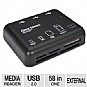 Gear Head CR7500H Card Reader and USB 2.0 Hub - 58-in-1, Built-In 3 Port USB Hub, 480Mbps