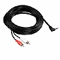 PowerUp! G54-41322 3.5mm to RCA Audio Adapter Cable - 25ft, Male to Male, Black