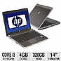 HP ProBook 4430s XU012UT Notebook PC - Intel Core i3-2310M 2.10GHz, 4GB DDR3, 320GB HDD, DVDRW, 14&quot; Display, Windows 7 Home Premium 64-bit (Refurbished)