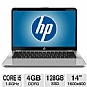 "HP ENVY 14-3010NR Spectre Notebook PC - 2nd Gen Intel Core i5-2467M 1.6GHz, 4GB DDR3, 128GB SSD, 14"" Display, Windows 7 Home Premium 64-bit (Refurbished)"