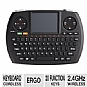 SMK-LINK VP6364 Wireless Ultra-Mini Touchpad Keyboard - USB, 2.4 GHz, 7 Hot Keys, Left and Right Mouse Buttons, 20 Function Keys, Ergonomic Handheld Design