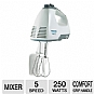 Black & Decker MX250 PowerPro 250-Watt Mixer - 5 Speeds, Comfort Grip Handle, White