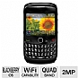Blackberry Curve 8520 Gemini Unlocked Cell Phone - QWERTY, Blackberry OS 5.0, 2MP Camera, microSD, microUSB, WiFi, Voice Memo, Black (Refurbished)