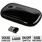 Kensington K72334US SlimBlade Mouse - Nano Receiver, USB, 2.4GHz, Black