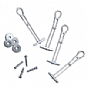 Kendall Howard 0300-1-001-00 Wall Mount Hardware Kit