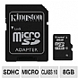 More Info on Kingston SDC10/8GB microSDHC Flash Card - 8GB, Class 10, Adapter Included
