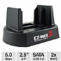 "Kingwin EZD-2536U3 2 Bay Hard Drive Dock - 2.5"" / 3.5"" SATA to USB 3.0, Up to 5Gbps, Plug and Play"