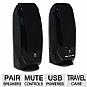 Logitech S150 USB Digital Speakers OEM - USB-Powered, Volume and Mute Controls, Travel Case
