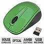 Microsoft GMF-00108 3500 Wireless Mobile Mouse - Blue Track Technology, Plug-and-Go Nano Transceiver, 8-Month Battery Life, On and Off Switch, Ambidextrous Design, Turf Green