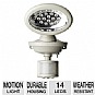 Maxsa 40217 Solar-Powered Motion-Activated Security Light - 14 LED Spotlight, White