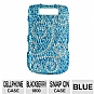 Mobo ECMBB9800LX21 Cell Phone Diamond Snap On Case - Compatible with Blackberry 9800, Blue