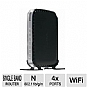 Netgear WNR1000 RangeMax 150 Wireless Router - WiFi 802.11 b/g/n, Five 10/100 (1 WAN and 4 LAN) Ethernet ports with auto-sensing, WPA2-PSK/WPA-PSK & WEP