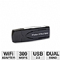 More Info on Netgear WNDA3100 RangeMax Wireless N Network Adapter - 300Mbps, 802.11n/g/a, USB 2.0, Dual Band