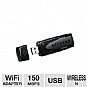 More Info on Netgear WNA1100-100ENS USB Adapter - Wireless-N, 2.4GHz, 150 Mbps
