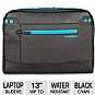 Altego 36501 Coated Canvas Cyan Series Laptop Sleeve - Fits Notebook PCs up to 13&quot;, Black/Cyan
