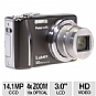 "Panasonic ZS8 DMC-ZS8K LUMIX Digital Camera - 14.1 Exact MegaPixels, 16x Optical Zoom, 4x Digital Zoom, 3"" LCD, Face Detection, Black (Refurbished)"