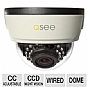 "Q-See QD6001D Elite Indoor Dome Camera - 1/3"" CCD Sensor, 600TVL, 100 Feet Night Vision, 2.8mm to 12mm Varifocal Lens, White"