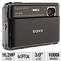 "Sony TX100V DSCTX100V Cyber-Shot Digital Camera - 16.2 Exact MegaPixels, 4x Zoom, 3.5"" OLED, 1/2.3"" CMOS, Black (Refurbished)"