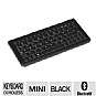 "Solidtek KB-3152B-BT (ASK-3152) Super Mini Clavier Bluetooth Keyboard - 4""x9"", Wireless, Portable, Black"