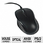 OEM Black PS/2 Optical Scroll Mouse - 3 Button, 1000dpi, Black, PS/2, OEM