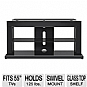 "PROFORMA 550AB 2-in-1 TV Base - For Flatscreen TVs Up to 55"", Swivel Mount, Glass Top Shelf, Black"