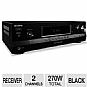 Sony STRDH130 Home Theater Stereo A/V Receiver - 2 Channels, 270 Watts Total, AM/FM Tuner, Black (Refurbished)
