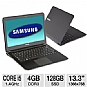 "Samsung NP900X3A-A03US Series 9 Notebook PC - Intel Core i5-2537M 1.4GHz, 4GB DDR3, 128GB SSD, Backlit Keyboard, Intel HD Graphics 3000, 13.3"" Display, Windows 7 Home Premium 64-bit, Bla (Refurbished)"
