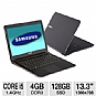 "Samsung Series 9 NP900X3A-A02US Notebook PC - Intel Core i5-2537M 1.4GHz, 4GB DDR3, 128GB SSD, Backlit Keyboard, Intel HD Graphics 3000, 13.3"" Display, Windows 7 Professional 64-bit, Bla (Refurbished)"