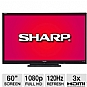 Sharp LC60LE6300U 60&quot; Class LED HDTV - 1080p, 1920 x 1080, 16:9, 120Hz, 4000000:1, 4 ms, HDMI, Energy Star (Refurbished)