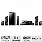 Samsung HTE6500W 3D Blu-Ray Home Theater System - 5.1 Channel, 1000 Watts Total, Built-in Wi-Fi, HDMI, USB, iPod Dock, BD-Wise, AllShare, Black (Refurbished)
