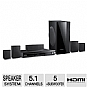 Samsung HTE550 DVD Home Theater System - 5.1 Channels, 1000 Watts Total, HDMI, Black (Refurbished)