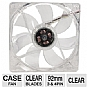 Masscool 92mm Clear Case Fan - Sleeve bearing, 3 pins/4 pins