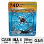 Masscool 140mm Blue LED Case Fan - Sleeve bearing, 3 pins/4 pins