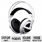 SteelSeries Siberia V2 Full-Size Headset - 50mm Drivers, Padded Earcups, Retractable Microphone, Volume Control, iPod/iPhone/iPad Compatible, White (Refurbished)